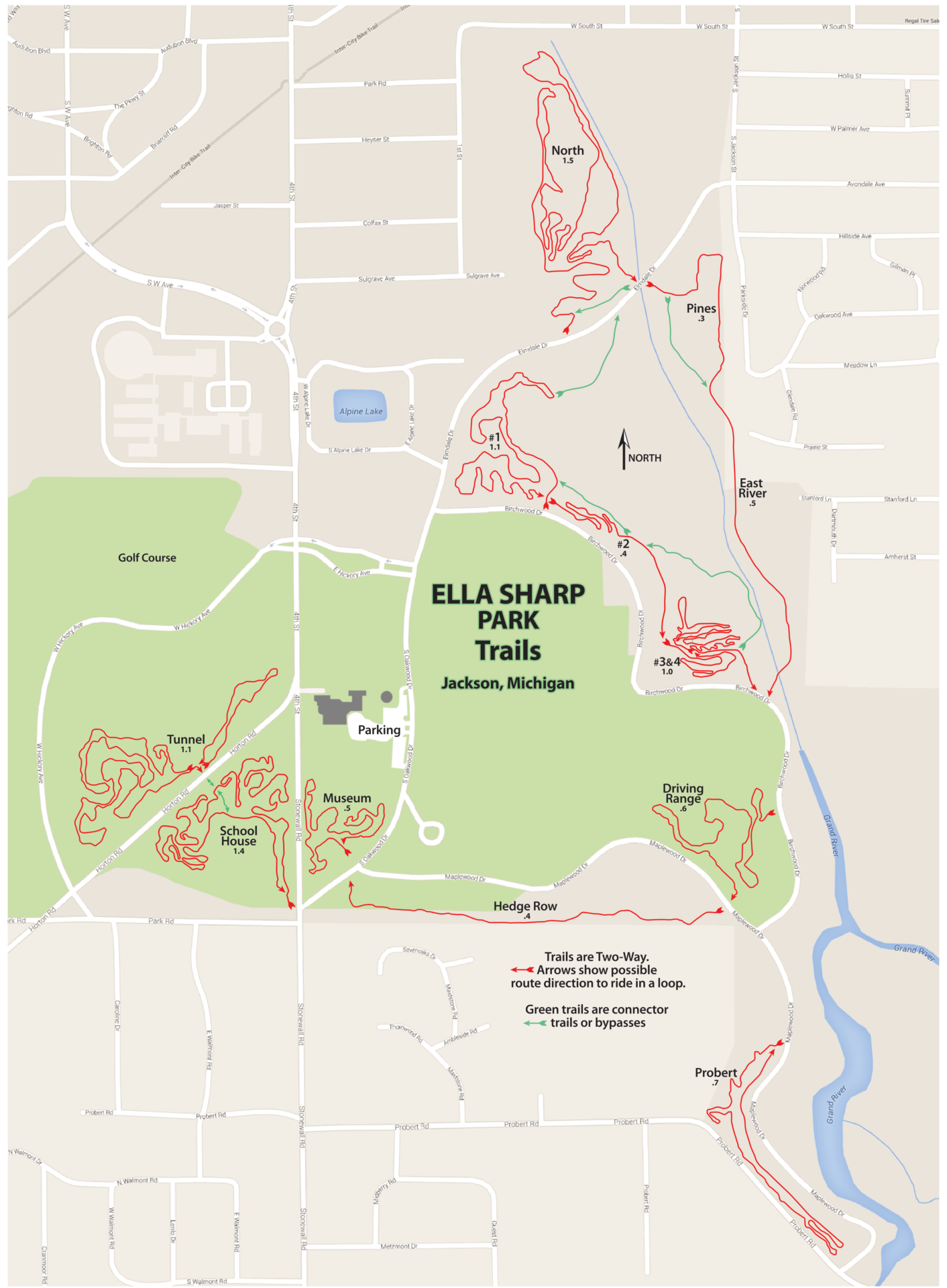 Ella Sharp mtb trails